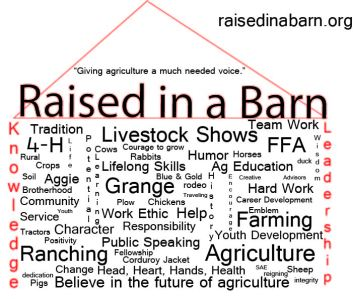 Raised in a Barn window cling